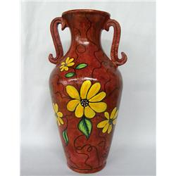 Hand Painted Pottery Vase By Kills Thunder