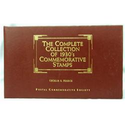 Complete Collection of 1930s Commemorative Stamps