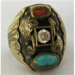 Vintage Navajo Sterling Ring Size 9 1/2 By RB