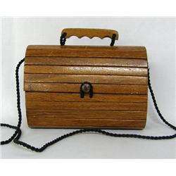 Ladies Handbag Made of Wooden Slats