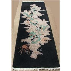 1930s China Dragon Handwoven Wool Rug Runner