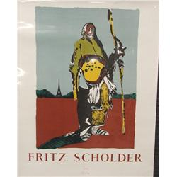 1977 Signed Print By Fritz Scholder