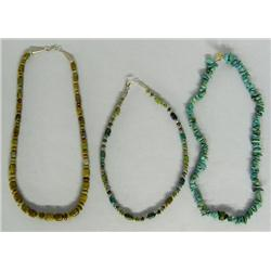 3 Native American Style Necklaces