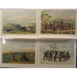 6 Prints of George Catlin's American Indian Group