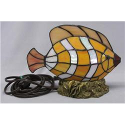 Contemporary Glass Fish Lamp