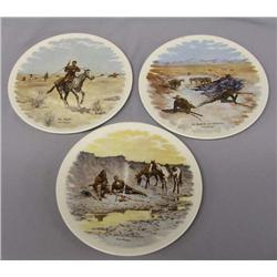 3 Frederic Remington Collector Plates
