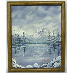 Original Framed Oil Landscape Painting by Arquette
