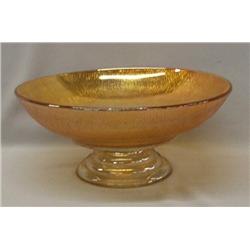 Carnival Glass Pedestal Bowl