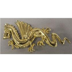 Dragon Gold Metal Pin