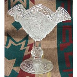 Vintage Depression Glass Candy Dish