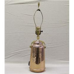 Copper Electric Lamp With Brass Handle