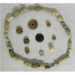 Collection of Precolumbian Style Pottery Beads