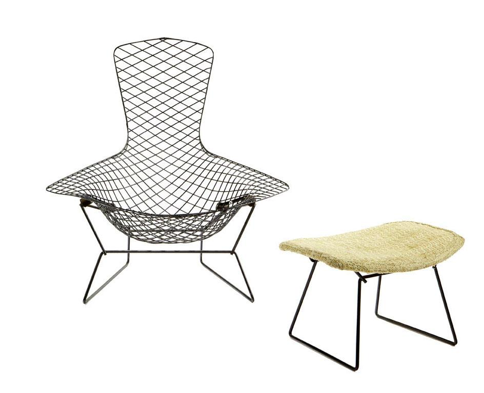 Harry Bertoia - Bird chair and ottoman. Loading zoom  sc 1 st  iCollector.com & Harry Bertoia -