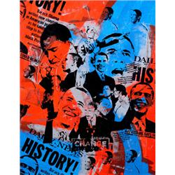 Artist: Bobby Hill; History; Montage Color Poster of President Elect Barack Obama