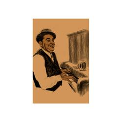 Artist: Clifford Faust; Fats Waller; Limited Edition Giclee; Pencil Signed