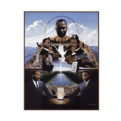Artist: Edward Clay Wright; Martin Luther King