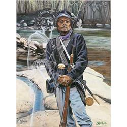 Artist: John W. Jones; Female Buffalo Soldier
