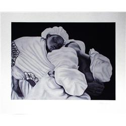 Artist: Anthony Jordan; Mother and Child; Signed giclee ed. 100