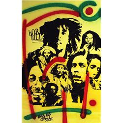 Artist: Bobby Hill; Bob Marley I; Mixed media on paper