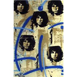 Artist: Bobby Hill; Jim Morrison (Gold); Mixed media on paper