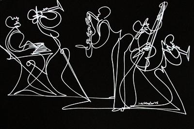 Single Line Drawing Artists : Artist sir shadow untitled xxv single line drawing in silver