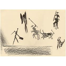 Pablo Picasso; Corrida, 1946; Lithograph printed on Arches woven paper