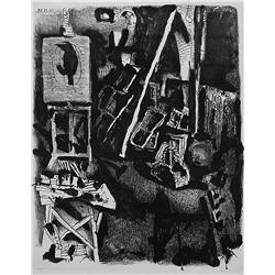 Pablo Picasso; L' Atelier, 1948; Lithograph printed on arches vellum paper