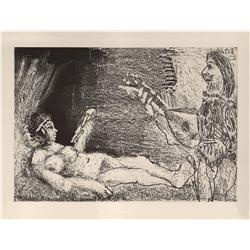 Pablo Picasso; L 'Aubade, 1966;  Etching and aquatint printed on Rives vellum paper