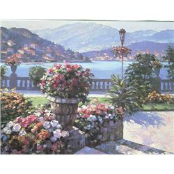Artist: Howard Behrens; Grand Hotel at Bellagio; Hand embellished limited edition serigraph