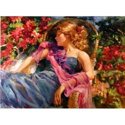 Artist: Vladimir Volegov; Sun Drenched Garden (large); Limited edition giclee on canvas