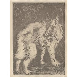 Pablo Picasso; Le Loup, 1936; Sugarlift aquatint printed on Montval laid paper