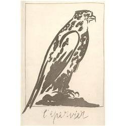 Pablo Picasso; L' Epervier, 1942; Sugarlift aquatint and drypoint