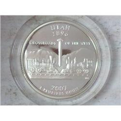 2007-S Silver Utah Quarter (Proof)