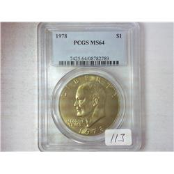 1978 Ike Dollar PCGS MS64 (Golden Toning)