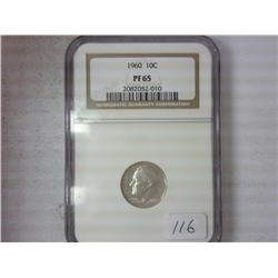 1960 Roosevelt Dime NGC PF65
