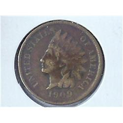 1909-S Indian Head Cent (Fine) Key Date