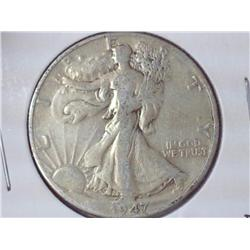 1947-D Walking Liberty Half Dollar