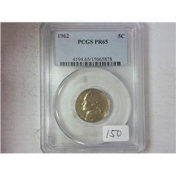 1962 Jefferson Nickel PCGS PR65