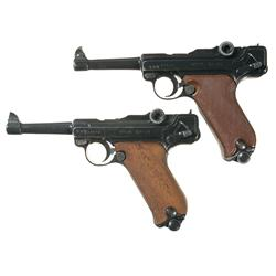 Two Erma Semi-Automatic Pistols -A) Erma Model LA 22 Semi-Automatic Pistol  B) Erma Model EP-22 Semi