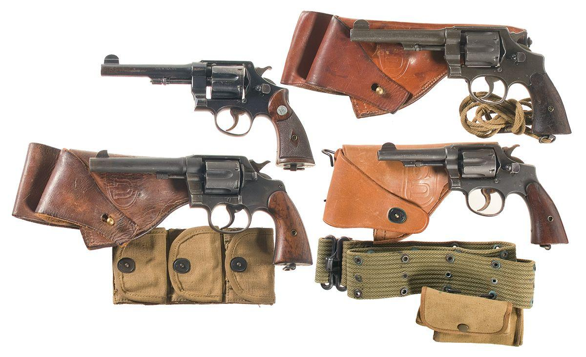 four double action revolvers a wwi u s army 1917 smith. Black Bedroom Furniture Sets. Home Design Ideas