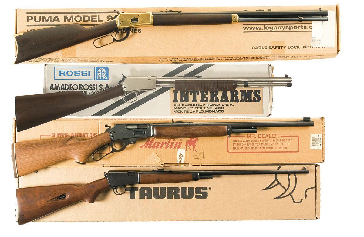 Image 1 : Four Long Guns -A) Puma Model 92 Lever Action Rifle with