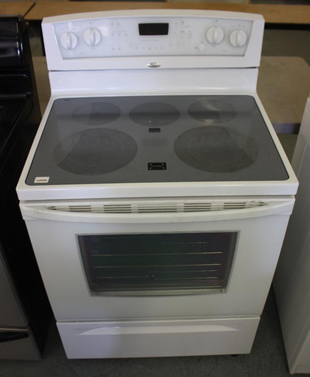 Whirlpool Electric Glass Top Stove Oven