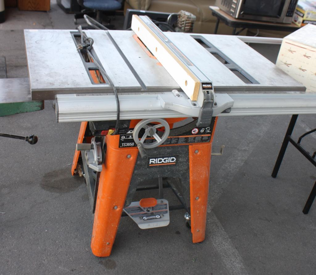 Ridgid table saw for 10 cast iron table saw r4512