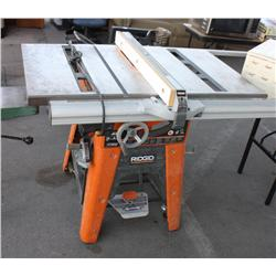 ridgid 10 cast iron table saw