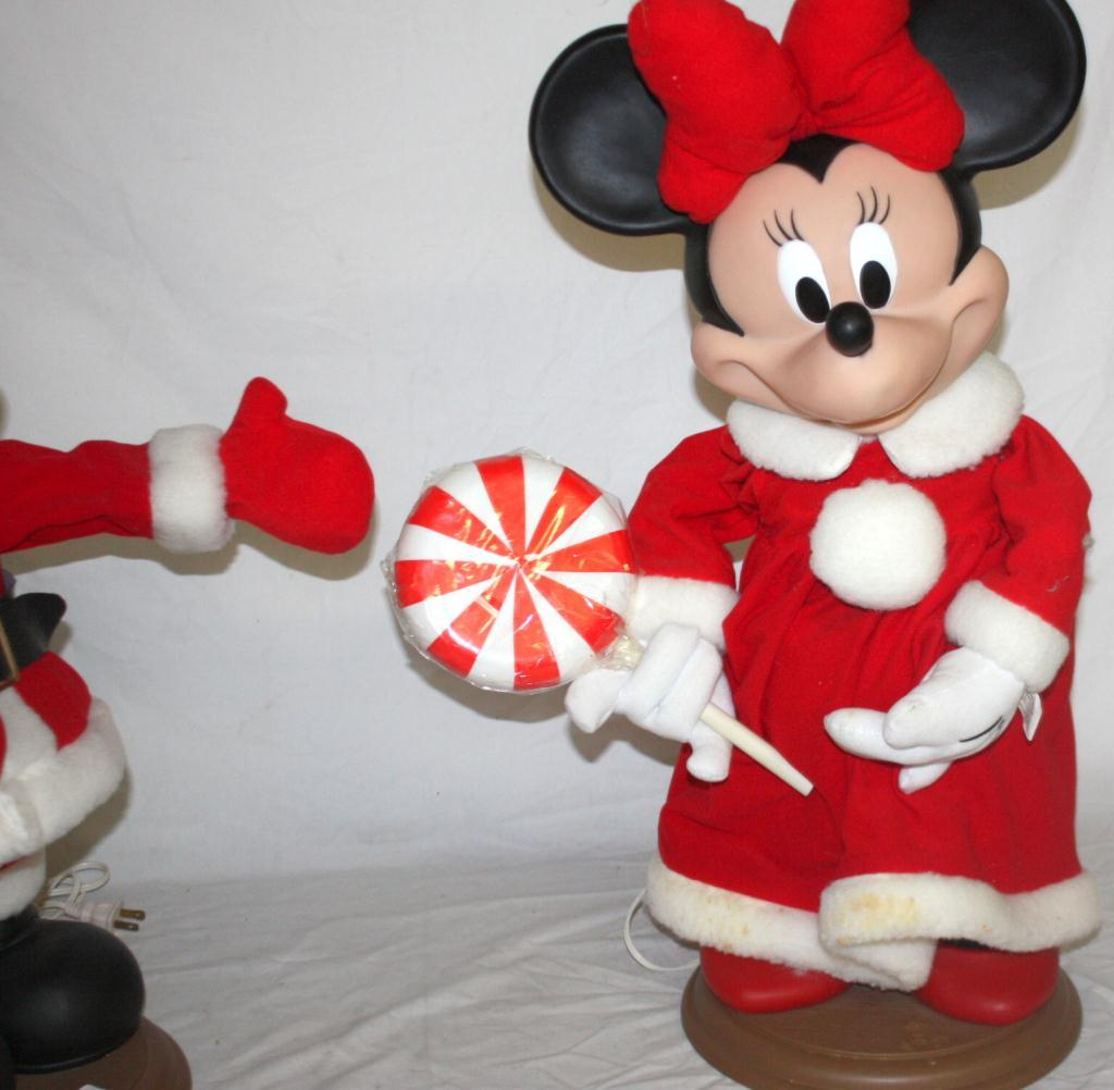 Set of mickey minnie mouse christmas statues - Minnie mouse noel ...