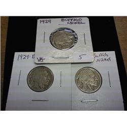 1929-P/D/S Buffalo Nickels