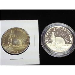 1986-D/S SOL Commemorative Halves (UNC & Proof)