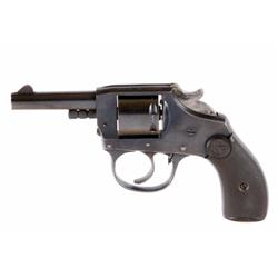 Iver Johnson US Revolver Cal .22 SN:45807 Double action seven shot pocket revolver made in USA. Blue