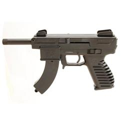 Intratec Sport 22 Scorpion Cal .22LR SN:K005846, Single action semi auto pistol with banana magazine