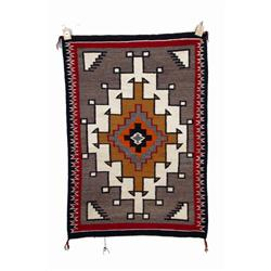 "Navajo All Natural Textile Weaving with crystals design. 41""X58"". In fine to near excellent conditio"